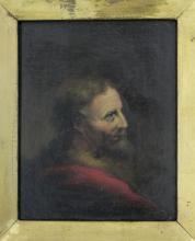 Portrait of Man in the Red Robe from 1700s original oil