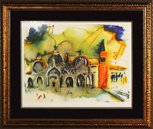 Salvador Dali Limited Edition Lithograph Venice