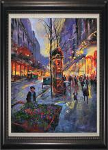 Michael Schofield-Original Mixed Media-Parisian Flower