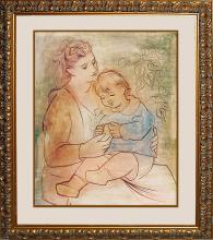 Pablo Picasso-Limited Edition Mother and Child