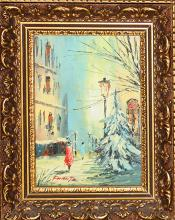 Vintage Original Oil on board signed by the artist