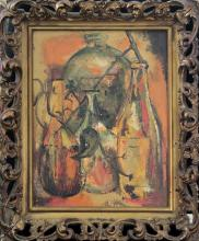 Vintage Original Oil on canvas Still Life by Mary