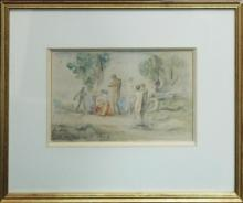 Original Watercolor 1920 E.G. Benezet  11x14 approx.