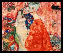 Gustav Klimt Limited Ed Giclee Friends