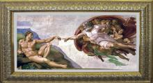 Creation, The Creation of Adam on canvas