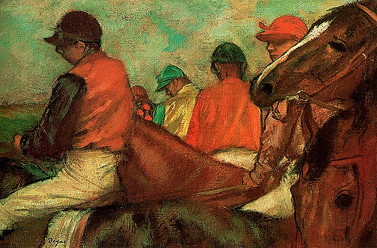 Edgar Degas-Limited Edition Giclee-Horses and Jockeys