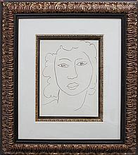 After Matisse-Limited Edition Giclee-Portrait of Lady Drawing