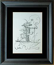 Original Lithograph Pantagruel's Comical Dreams by Salvador Dali Hand signed