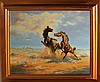 Arch Bacon Dueling Mustangs Limited Edition Giclee