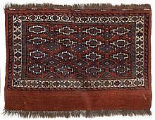Yomut-Torba.  Late 19th Century. 106 x 76 cm. Condition C. (Minor repairs).