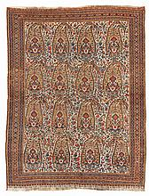 Afshar.  Late 19th Century. 180 x 138 cm. Condition C. (One end reduced, repairs).