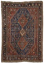 Qashqa'i.  Late 19th Century. 222 x 152 cm. Condition D. (Extensive wear).