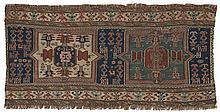 Mafrash, Shah-Savan, Sumakh.  2nd half of 19th Century. 100 x 46 cm. Condition C/D. (Re