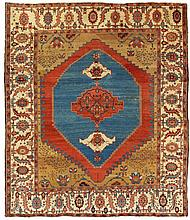 Bakhshaish.  19th Century. 300 x 262 cm. Condition C/D. (Evenly worn, minor repairs).