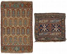 Group.  a) Konya-Yastik. 19th Century. 81 x 51 cm. (Ends replaced). Condition C/D  b