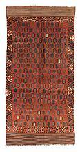 Ersari/Ersari ensi.  19th Century. 308 x 152 cm. Condition C/D. (Abrash, areas with low