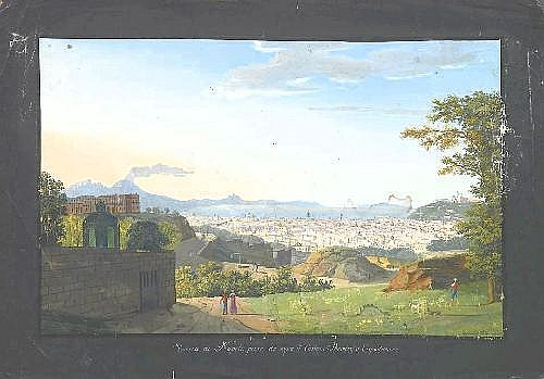 Fergola, Salvatore Naples 1799 - 1877  View on the bay of Naples.