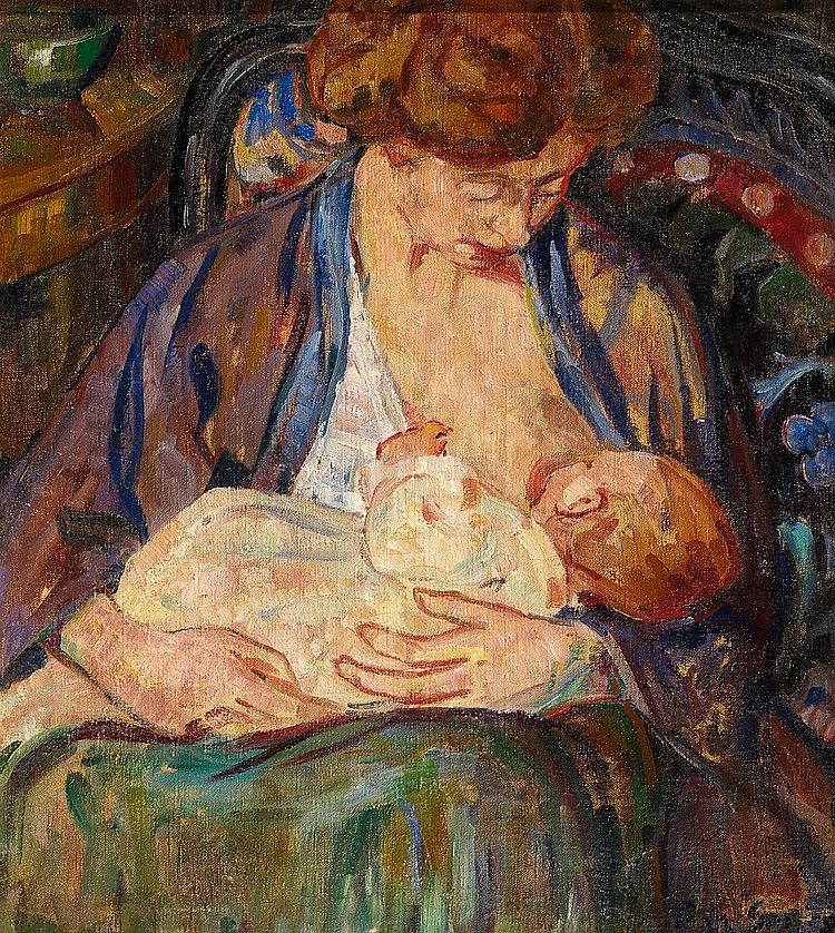 Gauguin, Pola 1883 Paris - 1961 Copenhagen  Nursing mother.