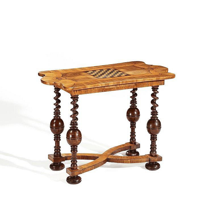 Baroque Card Table. Germany. 18th C. Walnut, ash,