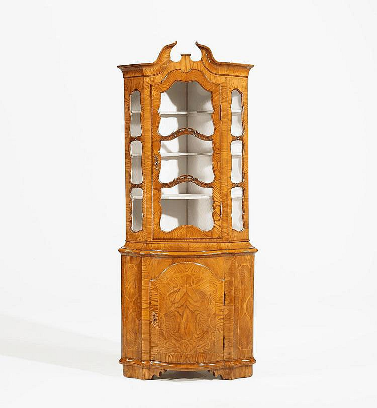 Rococo Corner Display Cabinet. Northern Germany.