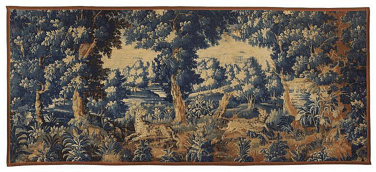 Verdüre with Leopards. Presumably Oudenaarde. 18th
