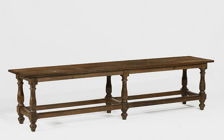 Renaissance Style Refectory Table. Oak. Long,