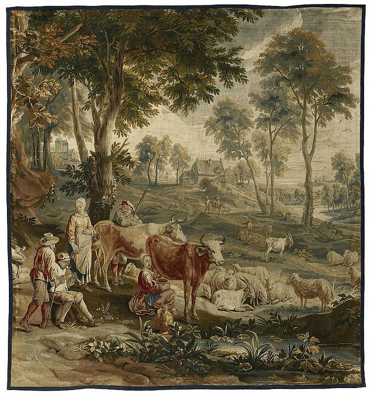 Tapestry with Shepherds. Presumably Brussels. 18th