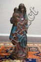 Polychrome wooden sculpture, Madonna and child,