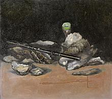 Georg Seifert - Still life with flute and oysters