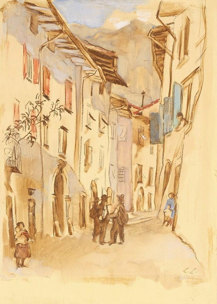 """Laserstein, Lotte 1898 - 1993 """"Straße in Italien"""