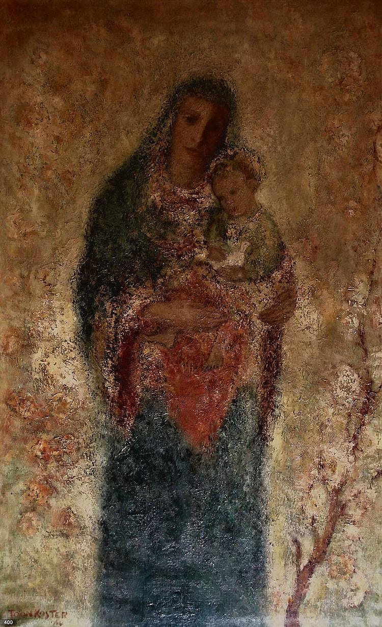 Toon Koster (1913-1990) Madonna met kind.