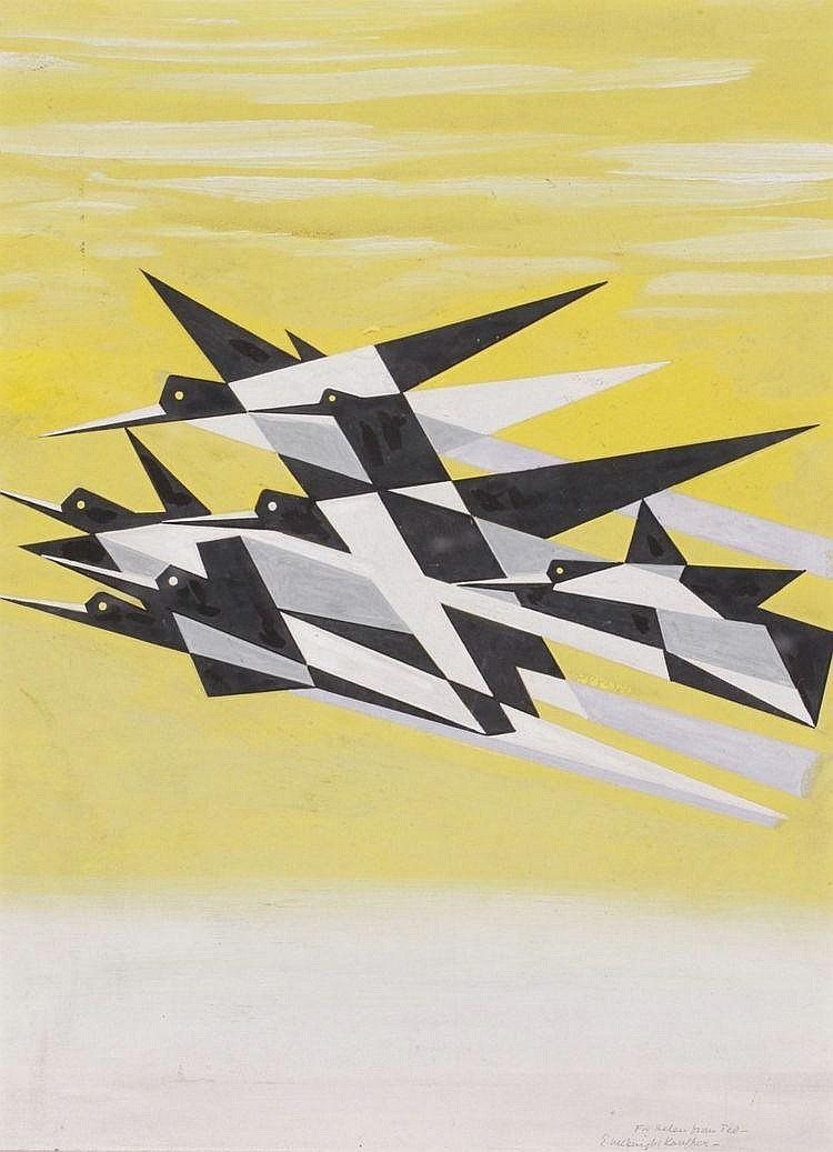 Edward Mc. Knight Kauffer (1890-1954) Compositie