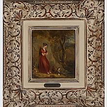STYLE OF FRANCIS WHEATLEY (1747-1801), BRITISH, THE SCOTCH PEASANT GIRL, 7