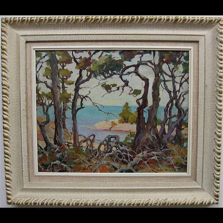 ERNA NOOK JACKSON (CANADIAN, 1886-?) BEACH THROUGH