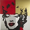 After Andy Warhol (1928-1987), GOLDEN MARILYN (PORTFOLIO  OF 10), Ten colour silkscreens; each with stamps