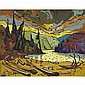 BRUNO COTE RIVIERE MANITOU, oil on board; signed