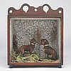 Victorian Taxidermy Diorama of Two Chihuahua Puppies in Landscape Setting, 19th century, 10.25