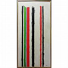 ** BLYTHE (CANADIAN, 20TH CENTURY), UNTITLED, MIXED MEDIA ON BOARD; SIGNED LOWER RIGHT, 52