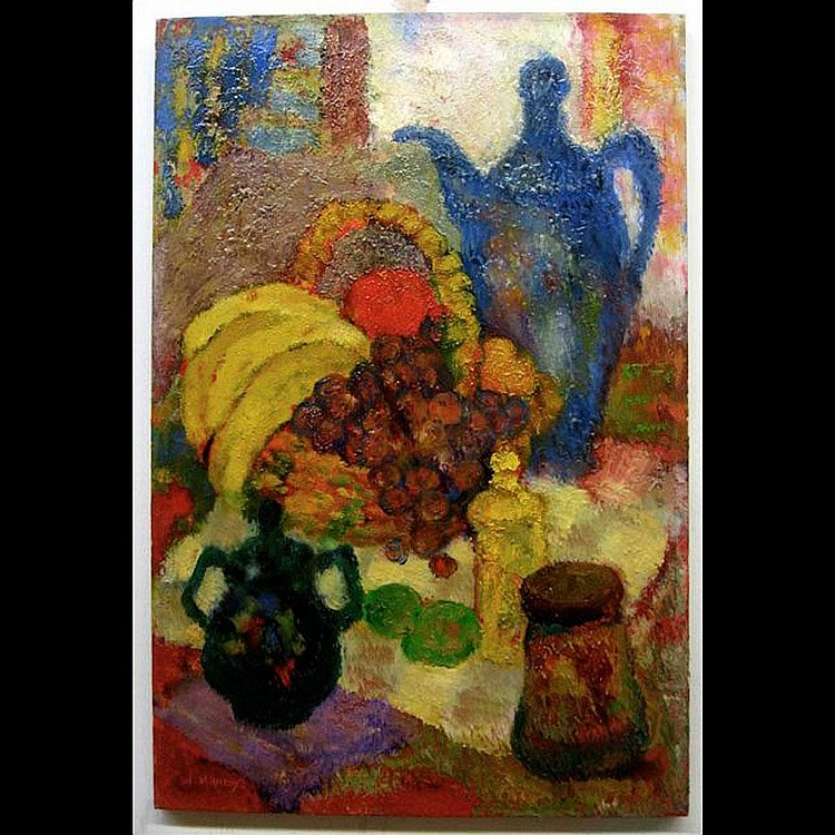 WADIE MAHDY (CANADIAN, 1921-) STILL LIFE; OIL ON