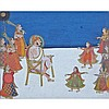 Mewar School, RAJA WITH DANCING ATTENDANTS, 17TH CENTURY