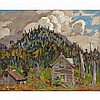ALEXANDER YOUNG JACKSON, O.S.A., R.C.A., INDIAN HOME, 1926, oil on panel, 8.5 ins x 10.5 ins; 21.6 cms x 26.7 cms