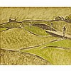 BARKER FAIRLEY, R.C.A., CUT IN ROAD, oil on board, 11.25 ins x 14 ins; 28.6 cms x 35.6 cms