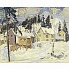 GRAHAM NOBLE NORWELL, O.S.A., GATINEAU VILLAGE, WINTER, oil on canvas, 39.5 ins x 49 ins; 100.3 cms x 124.5 cms