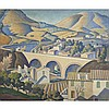 Ethelbert White (1891-1972), VIADUCT AND VILLAGE BENEATH THE HILLS, Oil on canvas; inscribed