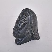Mary QUARAK, HEAD OF A WOMAN, stone, 4.75