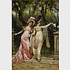 Frederic Soulacroix (1858-1933), AU REVOIR, Oil on canvas; signed at Florence lower right, 32