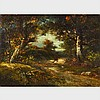 Jules Dupre (1811-1889), WOODLAND SCENERY, Oil on cradled panel; certified by Arnold et Tripp verso, titled to gallery labels verso, 9.5