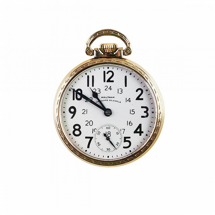 Waltham RailRoad Grade Pocket Watch circa 1941; serial #30562361; 16 size; 23 jewel Vanguard movement adjusted to 6 positions; in a gold-filled case