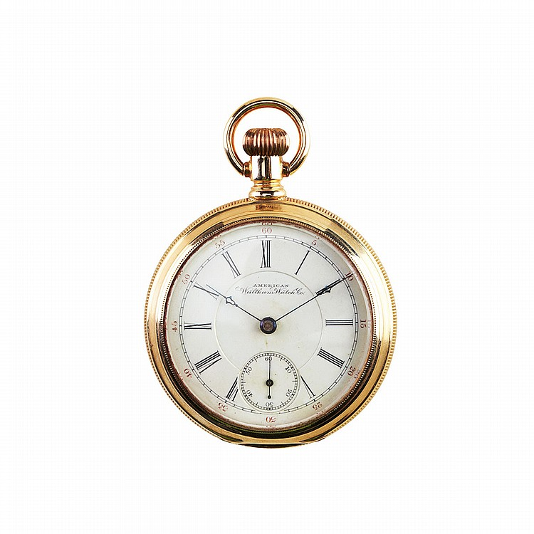 Waltham Openface Pocket Watch circa 1898; serial #8653205; 18 size; 17 jewel adjusted P.S.Bartlett movement; in a 14k yellow gold case, 139.1 grams