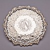 George II Silver Shaped Circular Salver, William Peaston, London, 1746, diameter 13.4